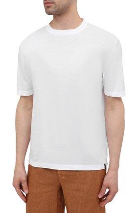 Мужской хлопковый джемпер JACOB COHEN белого цвета, арт. J1114 02383-ZR/55   Фото 2