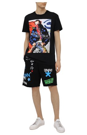 Мужская хлопковая футболка DIEGO VENTURINO черного цвета, арт. SS21-DV TS0 HBR | Фото 2