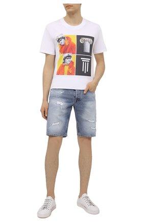 Мужская хлопковая футболка DIEGO VENTURINO белого цвета, арт. SS21-DV TS0 WAMBDM | Фото 2 (Рукава: Короткие; Материал внешний: Хлопок; Длина (для топов): Стандартные)