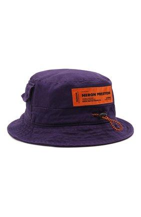 Мужская хлопковая панама HERON PRESTON фиолетового цвета, арт. HMLB005S21FAB0013500 | Фото 1
