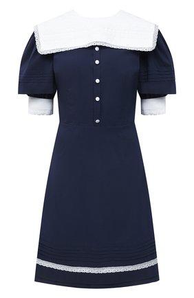 Женское хлопковое платье MASTERPEACE темно-синего цвета, арт. MP-R21-09   Фото 1