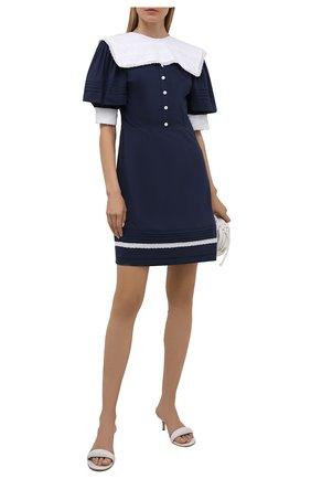 Женское хлопковое платье MASTERPEACE темно-синего цвета, арт. MP-R21-09 | Фото 2
