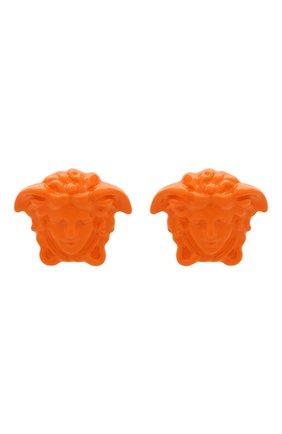 Женские серьги la medusa VERSACE оранжевого цвета, арт. DG28466/DMTV1   Фото 1 (Материал: Металл)