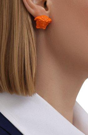 Женские серьги la medusa VERSACE оранжевого цвета, арт. DG28466/DMTV1   Фото 2 (Материал: Металл)