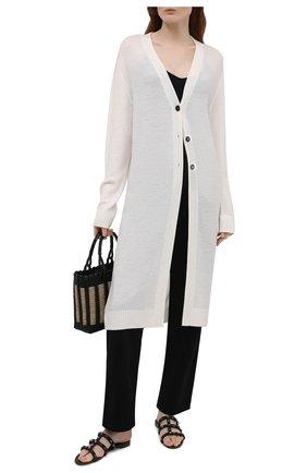 Женские кожаные шлепанцы rockstud VALENTINO черного цвета, арт. VW0S0C49/GEV | Фото 2 (Материал внутренний: Натуральная кожа; Подошва: Плоская; Каблук высота: Низкий)