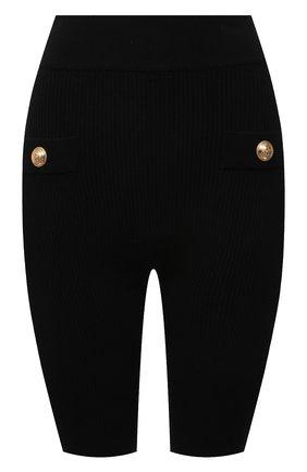 Женские шорты из вискозы BALMAIN черного цвета, арт. VF0PB015/K211 | Фото 1