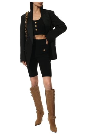 Женские шорты из вискозы BALMAIN черного цвета, арт. VF0PB015/K211 | Фото 2