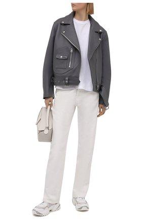 Женские комбинированные кроссовки SERGIO ROSSI белого цвета, арт. A94020-MFI330   Фото 2