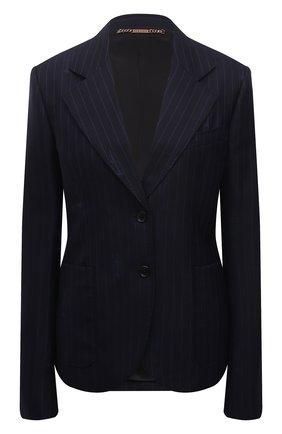 Женский шерстяной жакет VERSACE темно-синего цвета, арт. A88912/1F01181 | Фото 1