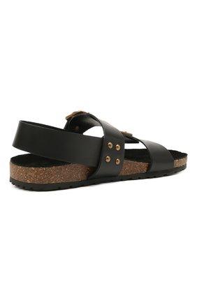Женские кожаные сандалии jam SAINT LAURENT черного цвета, арт. 649425/12K00 | Фото 4 (Подошва: Платформа; Материал внутренний: Натуральная кожа)