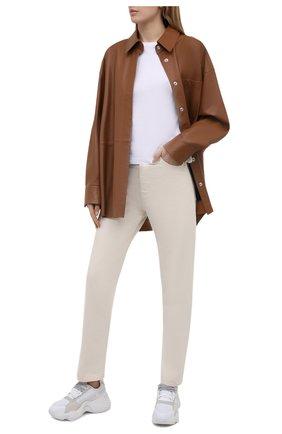 Женские комбинированные кроссовки EMPORIO ARMANI белого цвета, арт. X3X088/XM690 | Фото 2