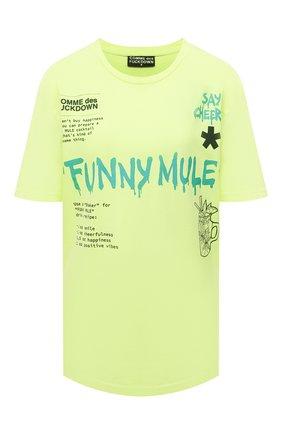 Женская хлопковая футболка COMME DES FUCKDOWN желтого цвета, арт. CDFD1503   Фото 1