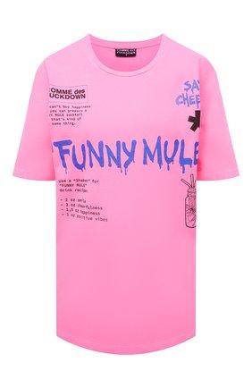 Женская хлопковая футболка COMME DES FUCKDOWN фуксия цвета, арт. CDFD1503   Фото 1