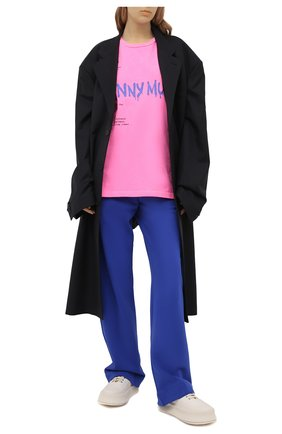 Женская хлопковая футболка COMME DES FUCKDOWN фуксия цвета, арт. CDFD1503   Фото 2