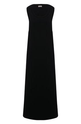 Женское платье из хлопка и шелка MRZ черного цвета, арт. S21-0006 | Фото 1