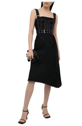 Женское джинсовое платье ALEXANDER MCQUEEN черного цвета, арт. 657834/QMAA6 | Фото 2 (Стили: Гламурный; Случай: Коктейльный; Материал подклада: Хлопок; Рукава: Без рукавов; Материал внешний: Хлопок; Женское Кросс-КТ: Платье-одежда, Сарафаны; Длина Ж (юбки, платья, шорты): Миди; Кросс-КТ: Деним)