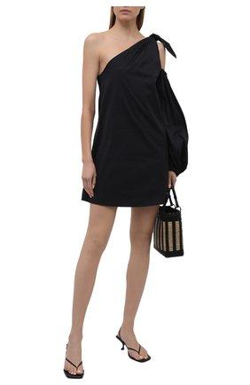 Женское хлопковое платье BERNADETTE черного цвета, арт. SS21-SHDRESS-LUC-CP0-1 | Фото 2