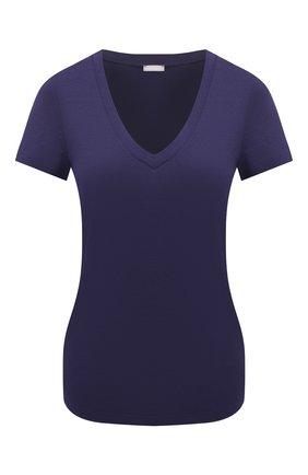 Женская футболка HANRO синего цвета, арт. 077876 | Фото 1