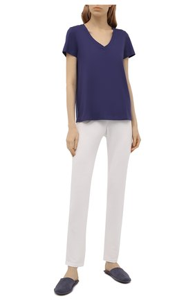 Женская футболка HANRO синего цвета, арт. 077876 | Фото 2