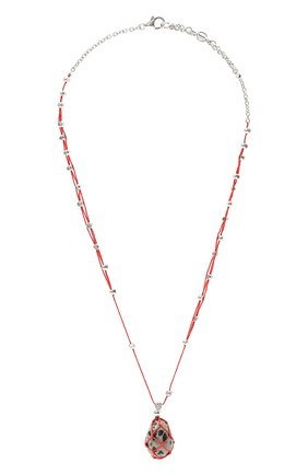 Женская кулон на цепочке BOTTEGA VENETA красного цвета, арт. 651098/VE3F3 | Фото 1 (Материал: Серебро)