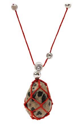 Женская кулон на цепочке BOTTEGA VENETA красного цвета, арт. 651098/VE3F3 | Фото 2 (Материал: Серебро)