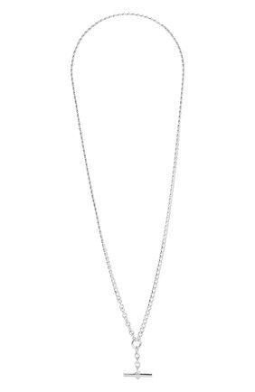 Женская серебряная цепь с кулоном BOTTEGA VENETA серебряного цвета, арт. 649353/V5070 | Фото 1