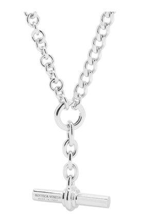 Женская серебряная цепь с кулоном BOTTEGA VENETA серебряного цвета, арт. 649353/V5070 | Фото 2