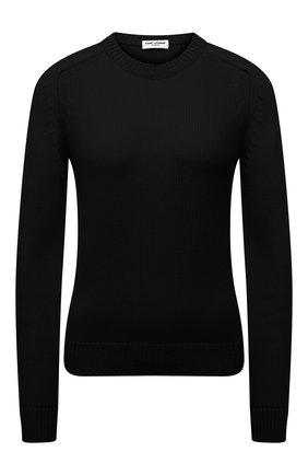Женский кашемировый свитер SAINT LAURENT черного цвета, арт. 603075/YALJ2 | Фото 1
