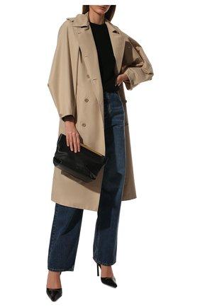 Женский кашемировый свитер SAINT LAURENT черного цвета, арт. 603075/YALJ2 | Фото 2