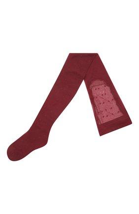 Женские колготы SAINT LAURENT бордового цвета, арт. 654585/Y36FP | Фото 1