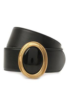 Женский кожаный ремень SAINT LAURENT черного цвета, арт. 658530/2R20W | Фото 1