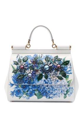 Женская сумка sicily DOLCE & GABBANA голубого цвета, арт. BB6002/B5828 | Фото 1