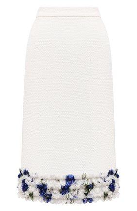 Женская юбка DOLCE & GABBANA белого цвета, арт. I4I86W/FUM6Q | Фото 1