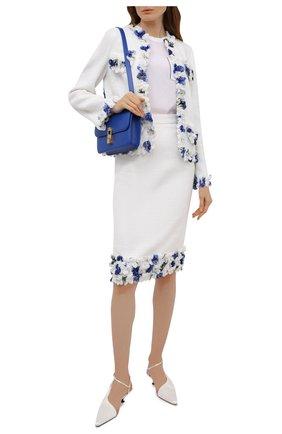 Женская юбка DOLCE & GABBANA белого цвета, арт. I4I86W/FUM6Q | Фото 2