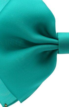 Женская бант PANFIL бирюзового цвета, арт. Бант 6-D2-Min   Фото 3 (Материал: Текстиль, Шелк)