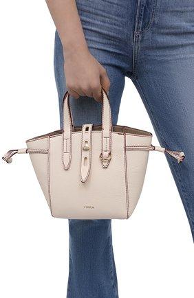 Женский сумка-тоут furla net mini FURLA бежевого цвета, арт. BASRFUA/HSF000   Фото 2