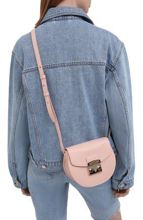 Женская сумка metropolis mini FURLA светло-розового цвета, арт. BATJEP0/ARE000   Фото 2