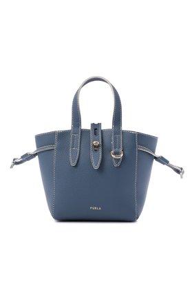 Женский сумка-тоут furla net mini FURLA голубого цвета, арт. BASRFUA/HSF000   Фото 1