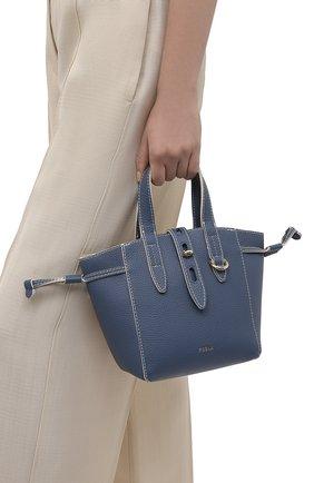 Женский сумка-тоут furla net mini FURLA голубого цвета, арт. BASRFUA/HSF000   Фото 2
