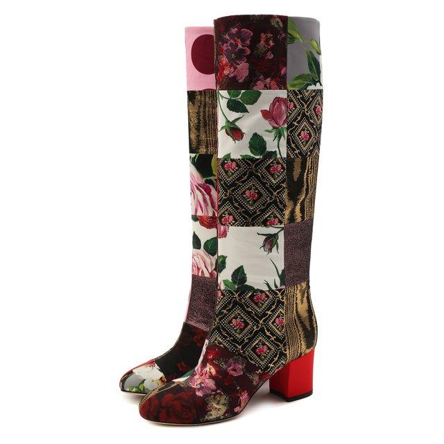 Текстильные сапоги Vally Dolce & Gabbana