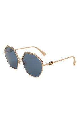 Женские солнцезащитные очки VALENTINO голубого цвета, арт. 2044-300480 | Фото 1