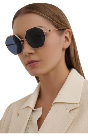 Женские солнцезащитные очки VALENTINO голубого цвета, арт. 2044-300480 | Фото 2