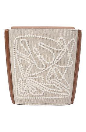 Женская сумка bucket canvas LORO PIANA светло-бежевого цвета, арт. FAL6584 | Фото 1 (Сумки-технические: Сумки через плечо; Ремень/цепочка: На ремешке; Материал: Текстиль; Размер: small)