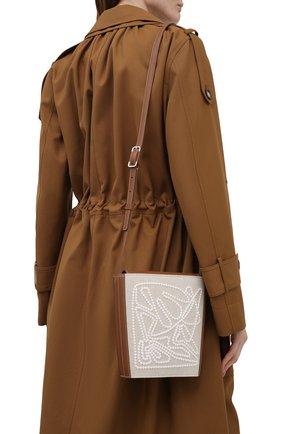 Женская сумка bucket canvas LORO PIANA светло-бежевого цвета, арт. FAL6584 | Фото 2 (Сумки-технические: Сумки через плечо; Ремень/цепочка: На ремешке; Материал: Текстиль; Размер: small)