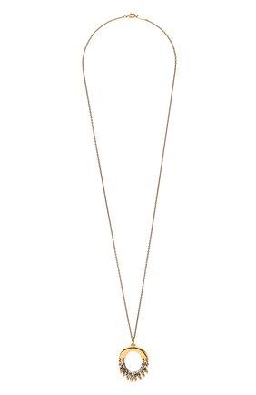 Женская подвеска на цепочке alphabet o CHLOÉ золотого цвета, арт. CHC21UF020CB8 | Фото 1 (Материал: Металл)