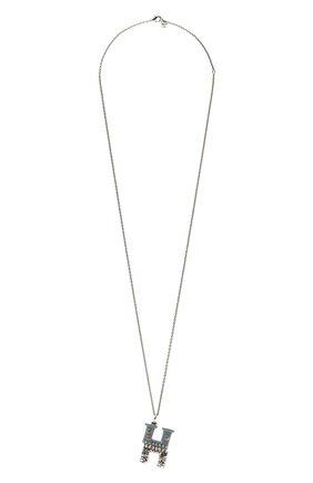 Женская подвеска на цепочке alphabet h CHLOÉ серебряного цвета, арт. CHC21UF02HB0J | Фото 1 (Материал: Металл)