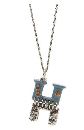 Женская подвеска на цепочке alphabet h CHLOÉ серебряного цвета, арт. CHC21UF02HB0J | Фото 2 (Материал: Металл)