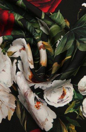 Женский шелковый платок DOLCE & GABBANA черного цвета, арт. FN093R/GDW16 | Фото 2