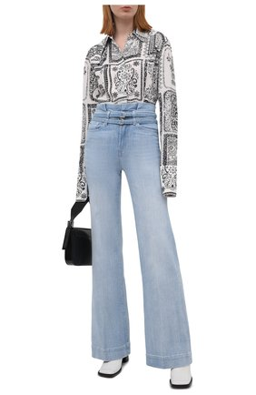 Женские джинсы 7 FOR ALL MANKIND голубого цвета, арт. JSWDR510RN   Фото 2