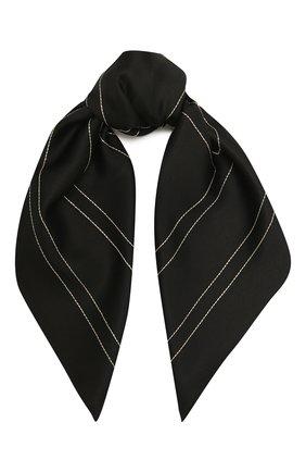 Женский шелковый платок TOTÊME черного цвета, арт. 212-873-803   Фото 1